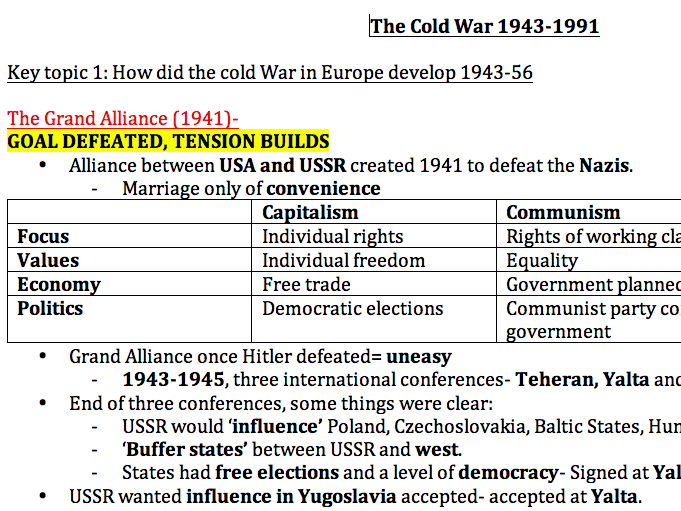 COLD WAR (1943-1991) extremely detailed start-to-finish overview