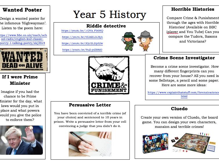 Year 5: History - Crime & Punishment
