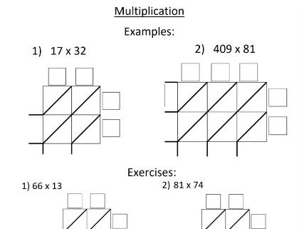 Multiplication Chinese Grid Worksheet