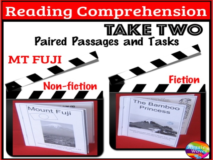Reading Comprehension Paired Texts and Activities: legend and informational Topic MT FUJI