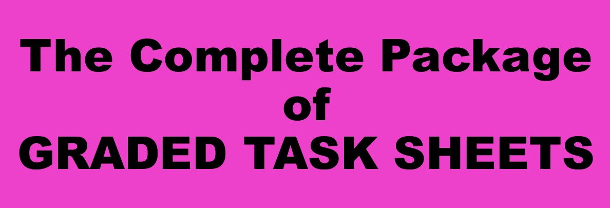 Part Four of The Complete Package of Science Graded Task Sheet