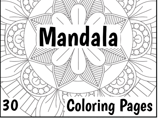 30 Coloring Pages Large Mandala Designs