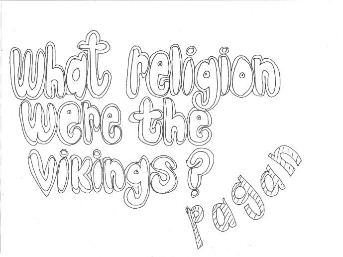 What Religion were the Vikings? (History) Colouring Page