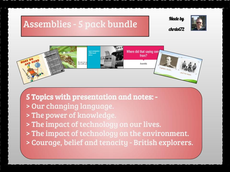 Assembly pack (v) (5 pack) - Mixed theme