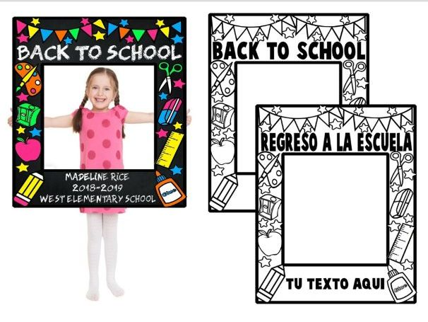 PHOTO BOOTH FRAME ★ BACK TO SCHOOL ★ FREE PRINTABLES