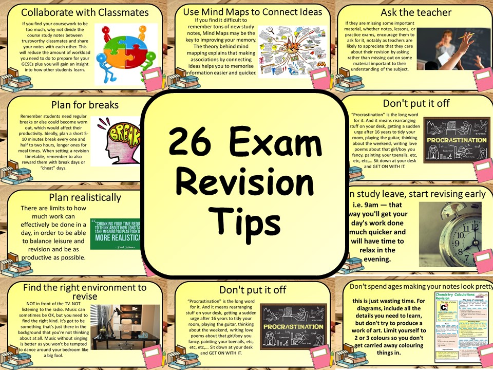 FREE! 26 Exam Revision Tips / Methods