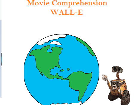 WALL-E movie comprehension worksheet with Key