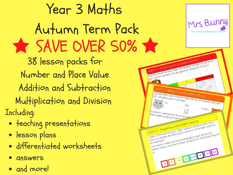 Year 3 Maths Autumn Term Pack