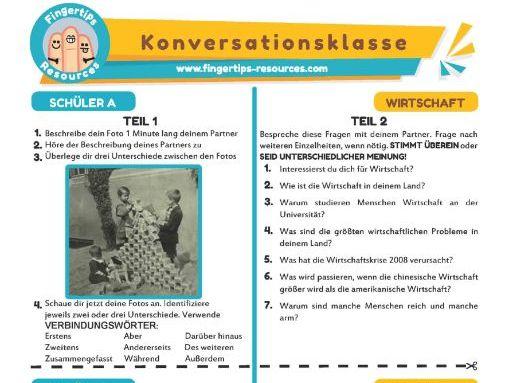Wirtschaft - German Speaking Activity