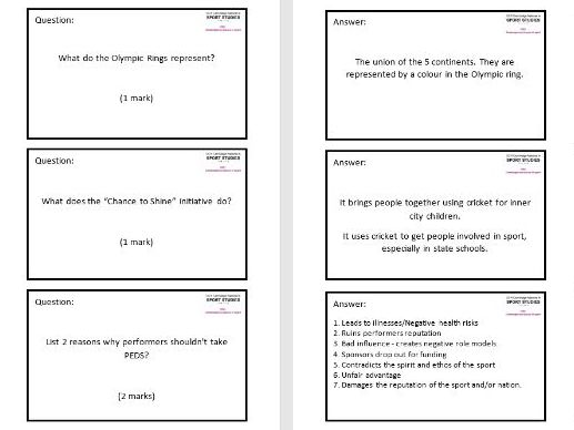 Sports Studies Flashcards - RO51 Exam