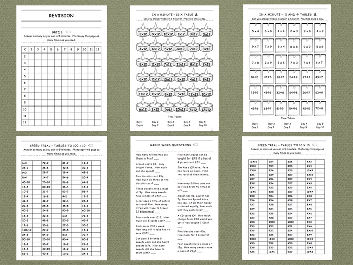 Twelve Times Table - Comprehensive Workbook