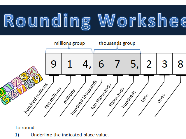Rounding Worksheet (6 digits and more)
