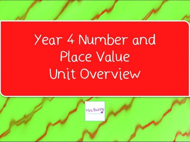 Year 4 Number and Place Value Unit Overview