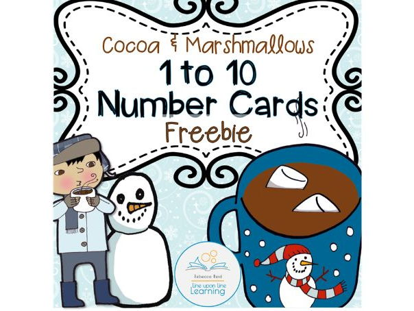Counting to 10 Marshmallows Task Cards and Ten Frames
