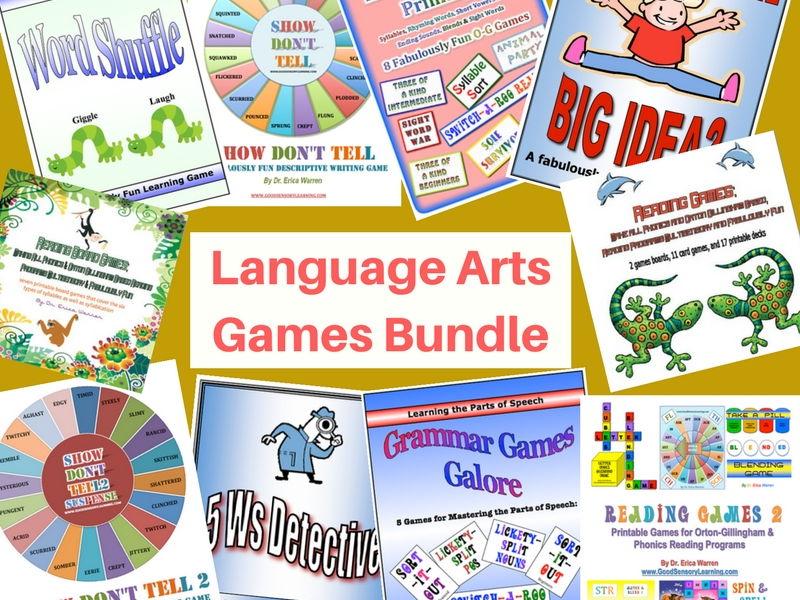 Language Arts Games Bundle