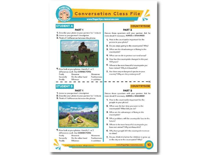 Countryside - ESL Conversation Activity