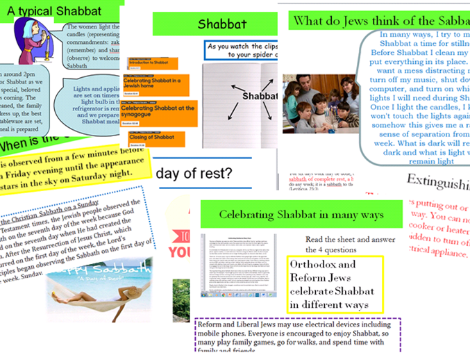 Eduqas Route B,Judaism: Celebrating Shabbat. Full Lessons with activities, exam questions and video
