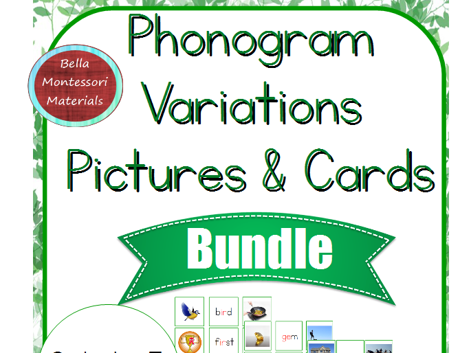 Montessori Phonogram Variations Pictures & Cards