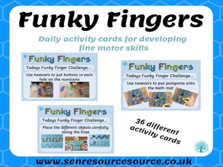 Funky Finger Fine Motor Challenges