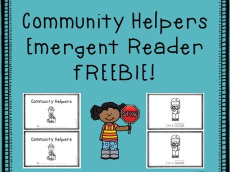 FREE Community Helpers emergent reader book