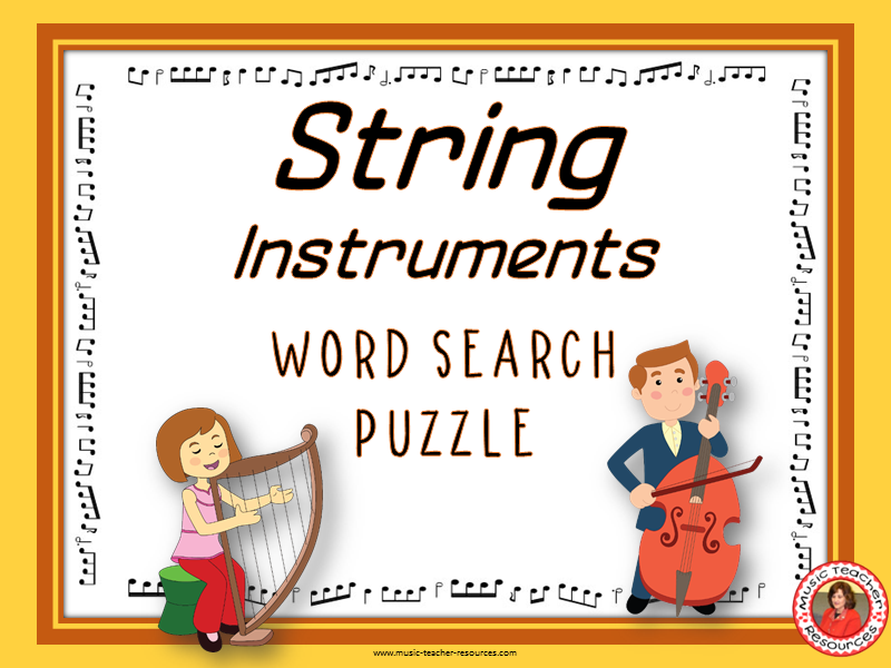 String Instruments Word Search Puzzle