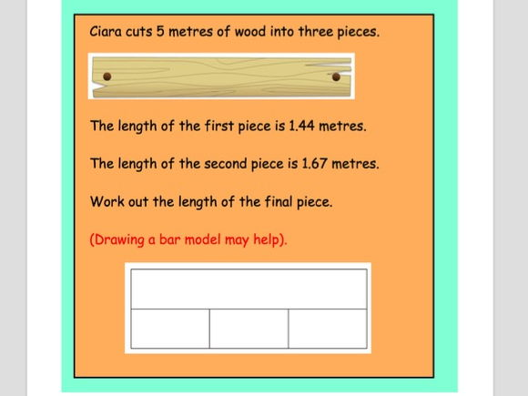 KS2 Word problems with Bar Modelling Visual (Set B) - Revision