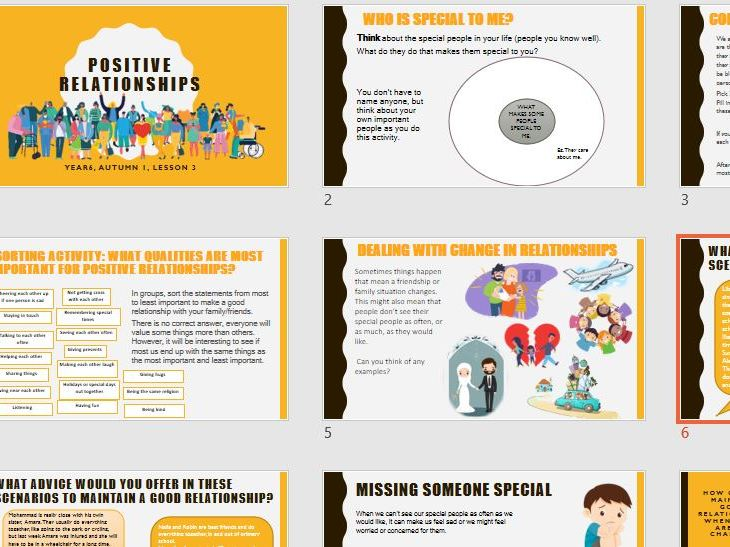 Positive relationships - Year 6 PSHE 2020 Curriculum
