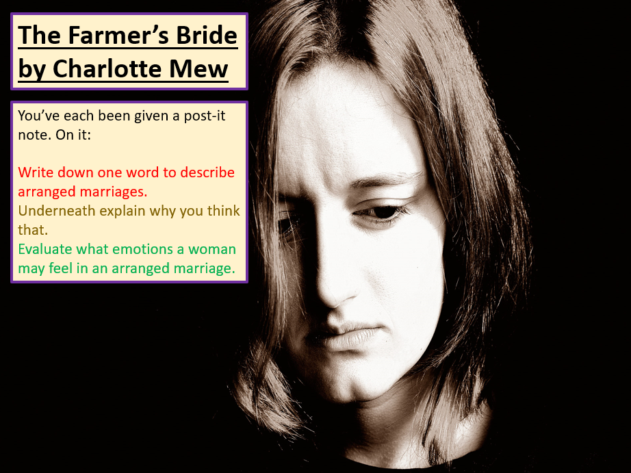 Love and Relationships - The Farmer's Bride