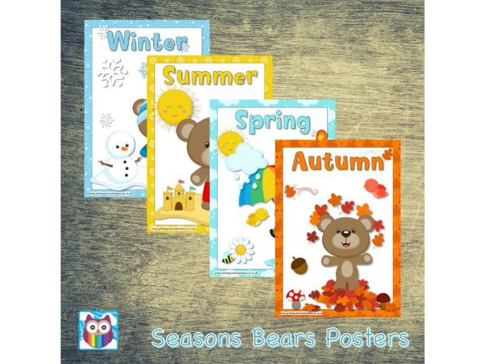 Seasons Bears Posters
