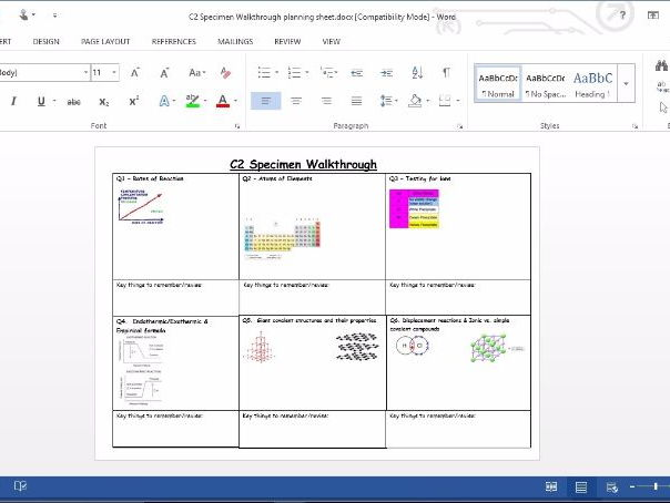 C2 Specimen Paper Walkthrough - Edexcel - GCSE Chemistry Revision