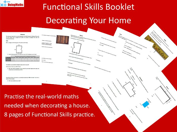 Functional Skills Level 1 Workbook - Decorating Your Home