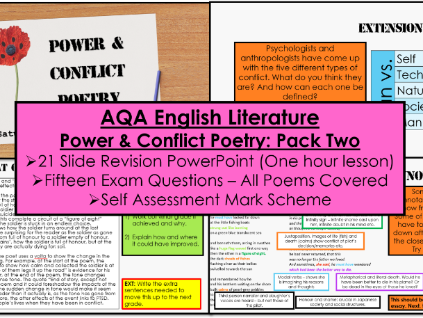 AQA Power and Conflict Poetry Revision