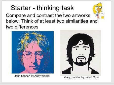 Portraits Art lesson 4