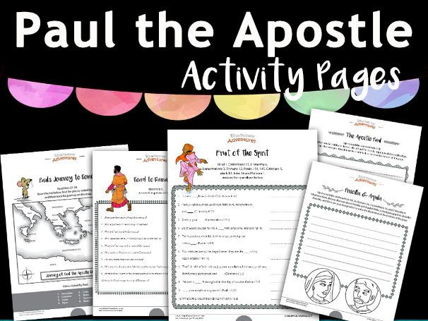 Paul the Apostle Activity Pack FREEBIE