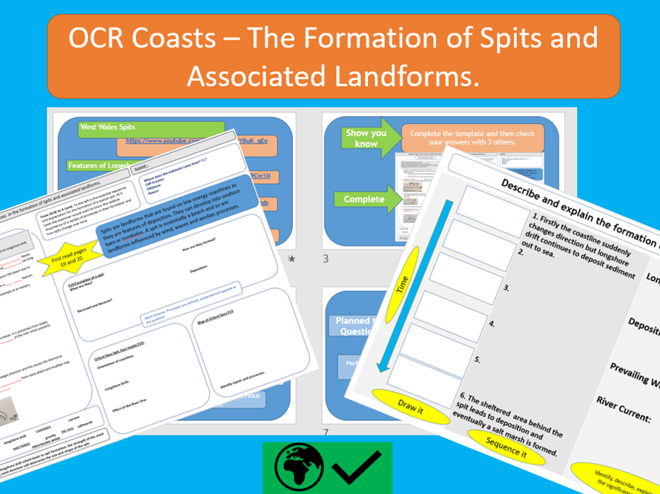 OCR A Level Coastal Landscapes - The Formation of Spits and Associated Landforms.