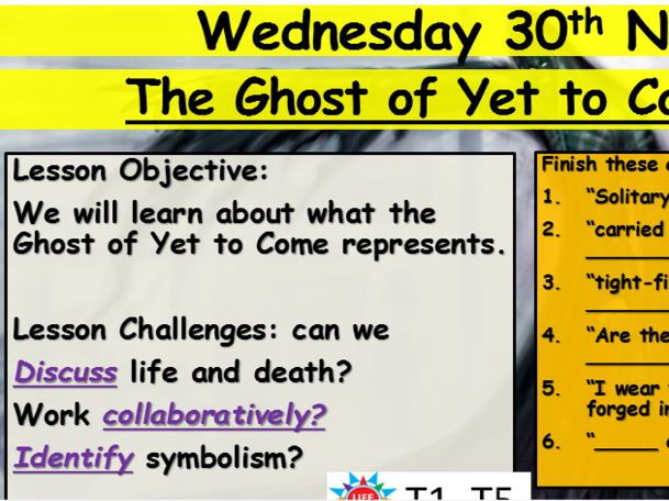 A Christmas Carol Ghost Of Yet To Come By Jessomalley Teaching