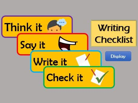 KS1 Writing Support Prompts