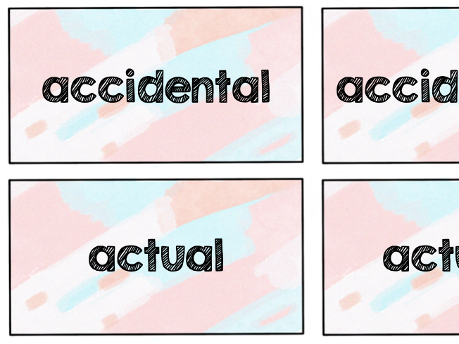 Year 3 and 4 Common Exception Words