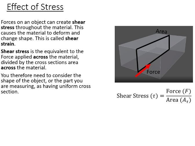 BTec Engineering - Shear Stress, Strain and Modulus of Rigidity (PowerPoint + questions)