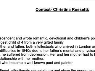 Rossetti Context