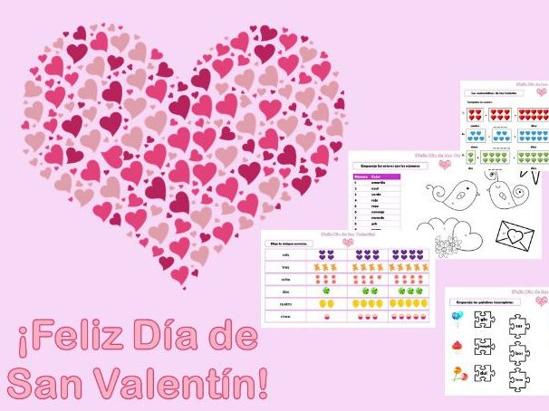 ¡Feliz Día de San Valentín! / Valentine's Day resources, Spanish
