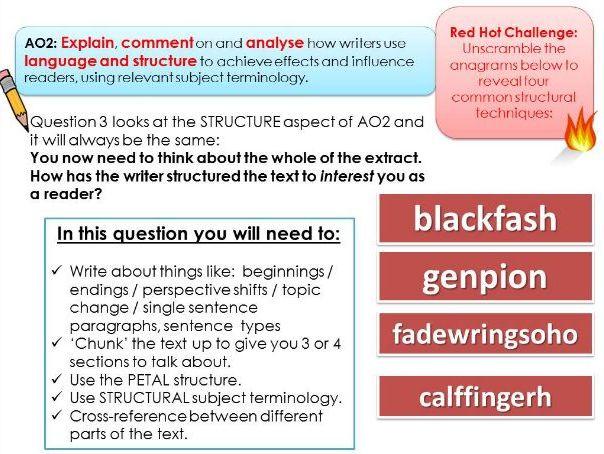 Intro to AQA English Language Paper 1