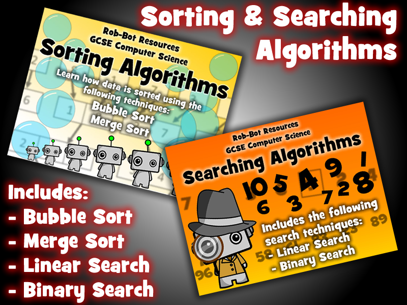 GCSE 9-1 Computer Science: Sorting & Searching Algorithms