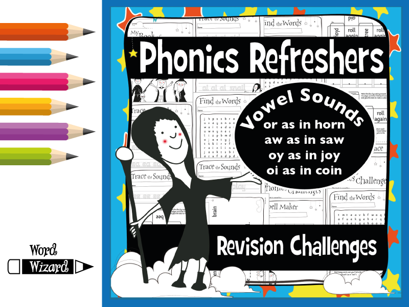 Phonics Refresher Vowels 3: or, aw, oy, oi