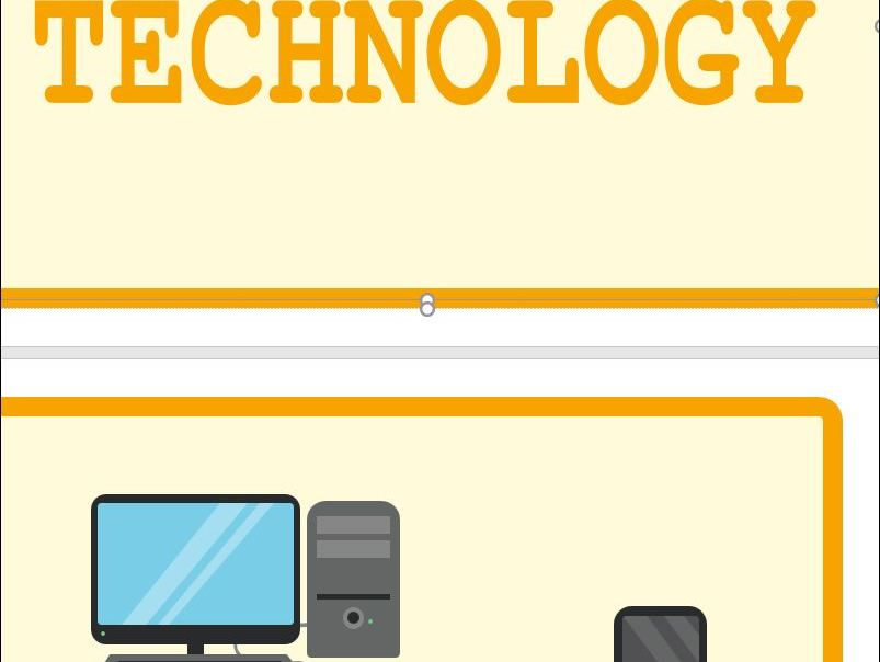 Technology or Computer Display classroom Banner