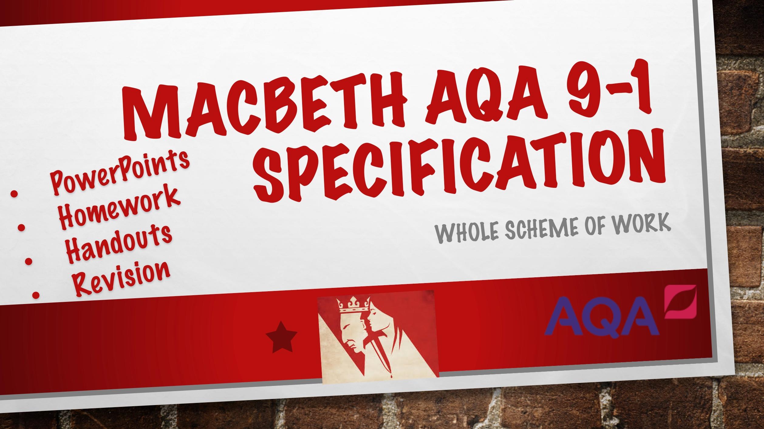 Macbeth Whole SoW 9-1