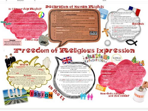 WJEC Eduqas Human Rights: Censorship and Freedom of Religious Expression Learning Mat
