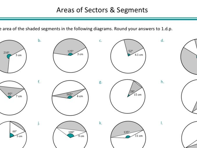Areas of Sectors and Segments