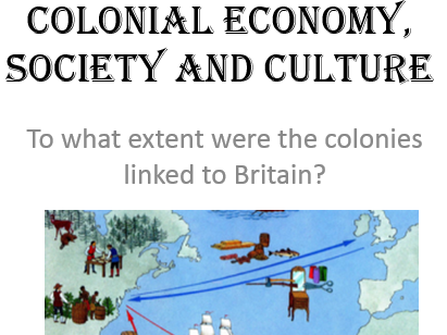 3. Colonial economy, society and culture
