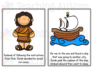 Jonah and the Whale Bible Flashcard Story